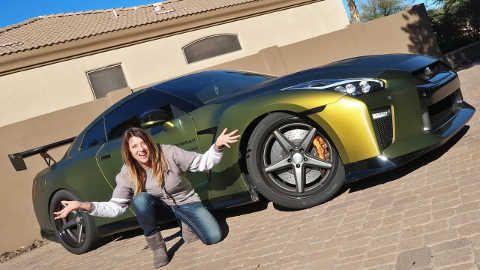 Tanner Fox: MOM REACTS TO GTR LAUNCH! | TFOX's GT-R | Gtr