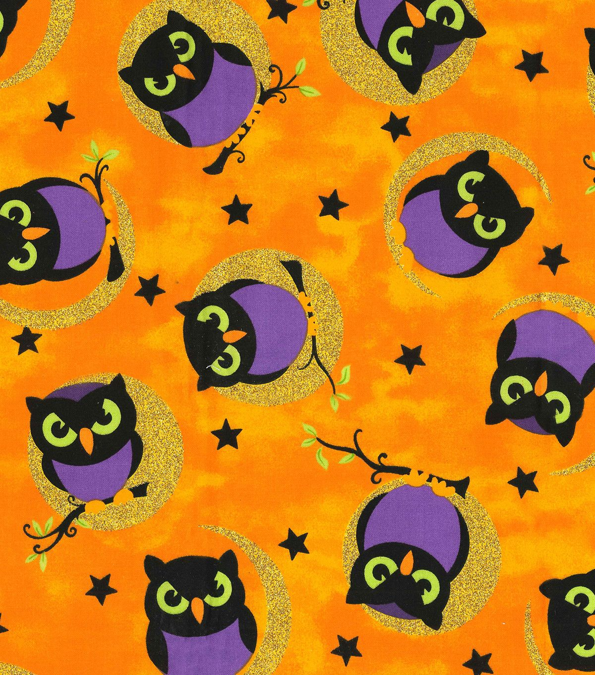 Cute Kids Halloween Fabric Cotton Upholstery Quilting Custom Size Craft Cloth