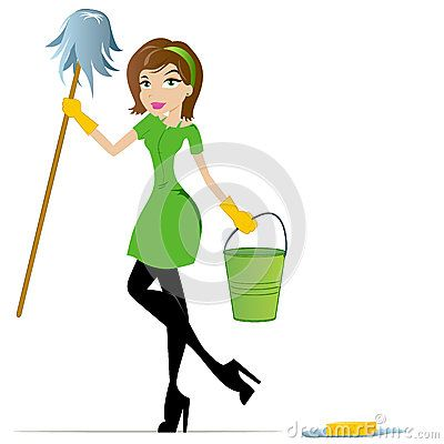 cleaning lady clipart | Cleaning Lady Cartoon Mascot Stock Photography - Image: 25292742