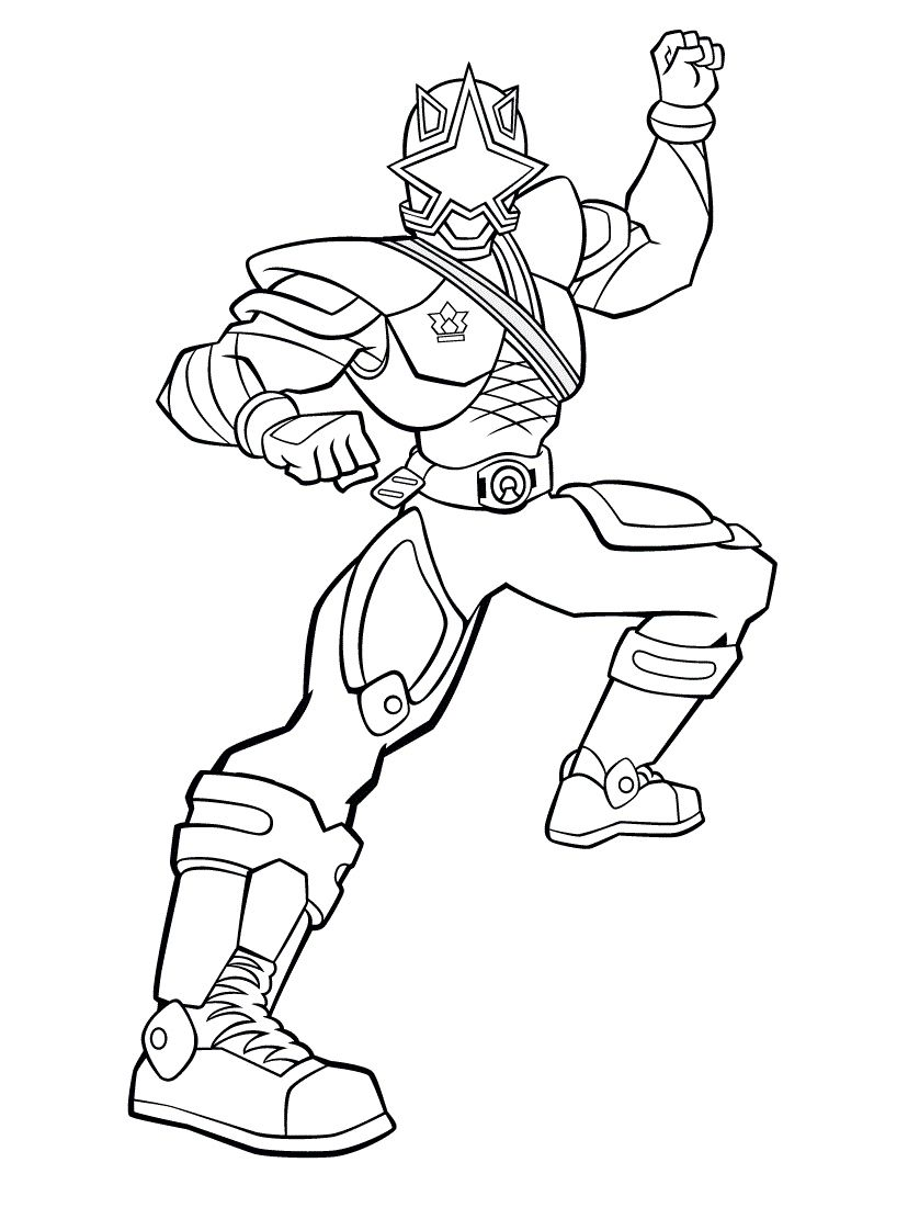 Power Ranger Coloring Pages Samurai