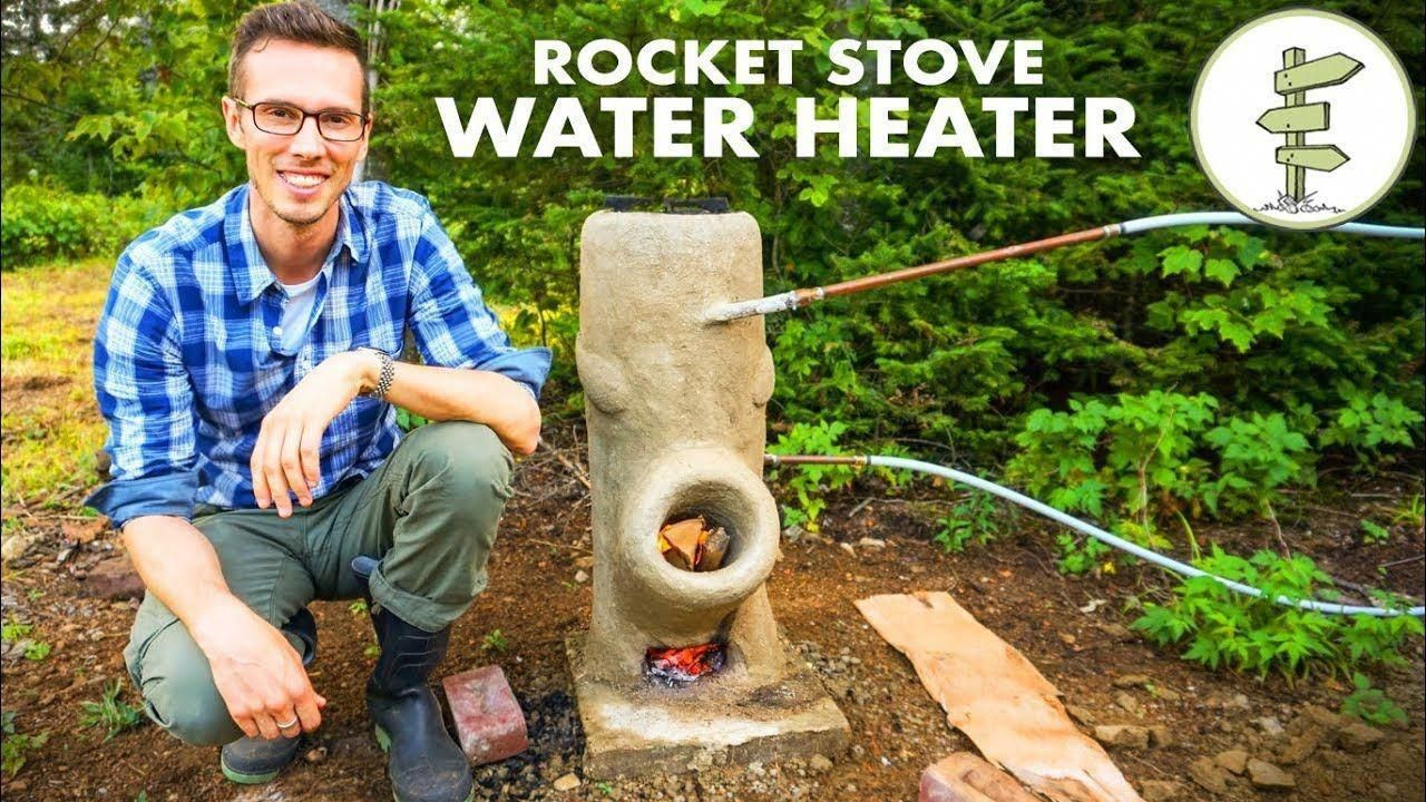 Brilliant DIY OffGrid Water Heater Using a Rocket Stove