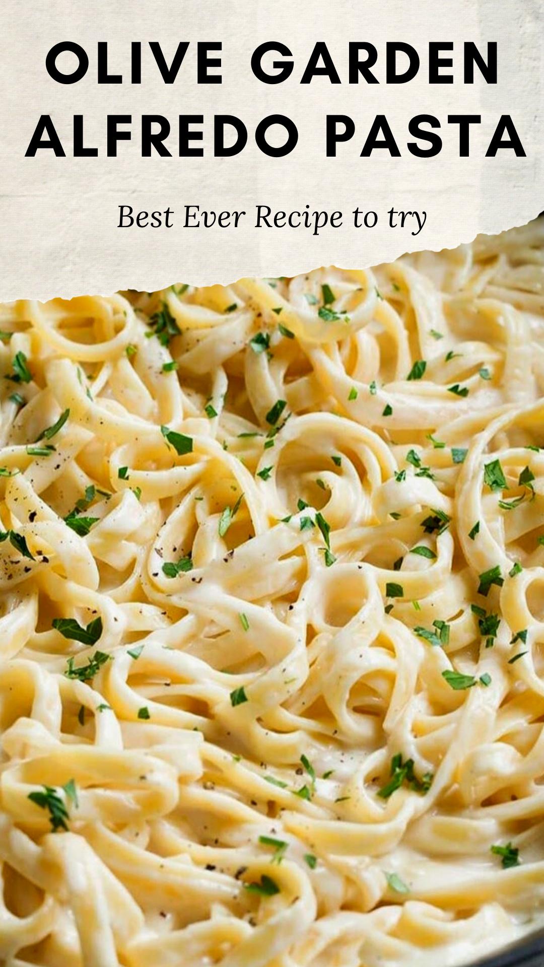 Olive Garden Fettuccine Alfredo Recipe Pasta Recipe