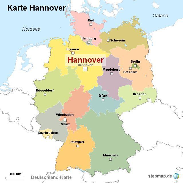 Hannover Karte Deutschland Neupic Deutschland Hannover