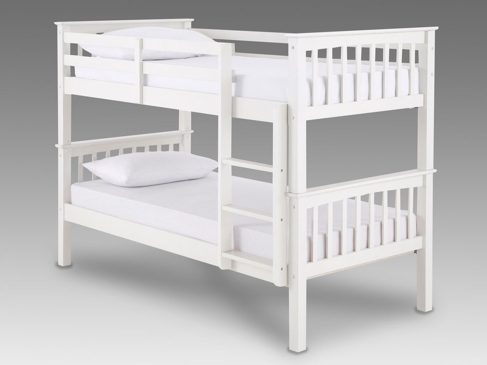White Wooden Bunk Bed With Mattress Options Free Delivery Kids Beds