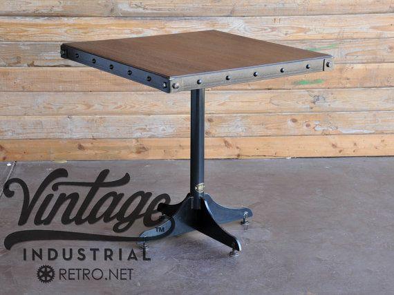 Vintage dos industrial superior mesa de restaurante casa for Mesas industriales vintage