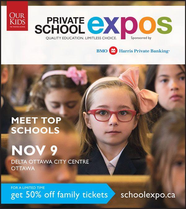 Ottawa Private School Expo – Sunday Nov 9th!