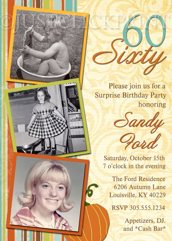 60th Birthday Invitation Like Use Of Old Pics Might Do Something Similar For Moms Bday