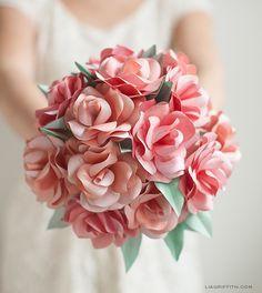 Diy paper rose wedding bouquet diy paper wedding and craft diy paper rose wedding bouquet mightylinksfo