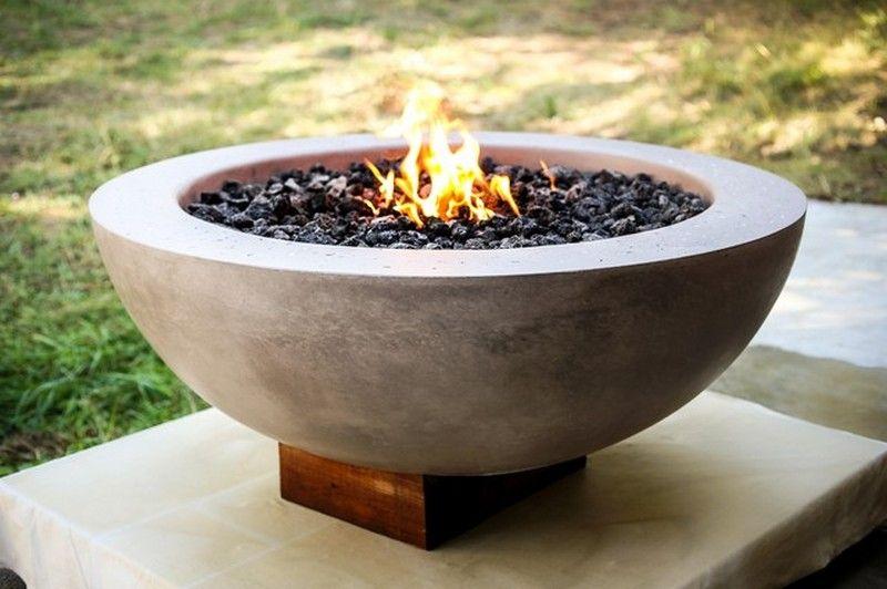 Diy Concrete Fire Pit Concrete Fire Pits Fire Pit Backyard Tabletop Fire Bowl