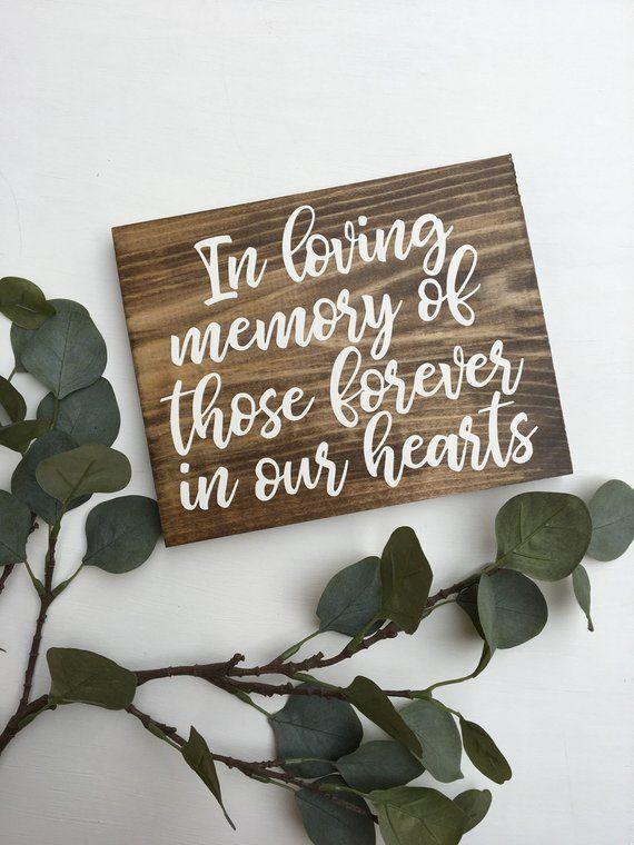 In Loving Memory Sign Rustic Wood Sign In Memory Woodland