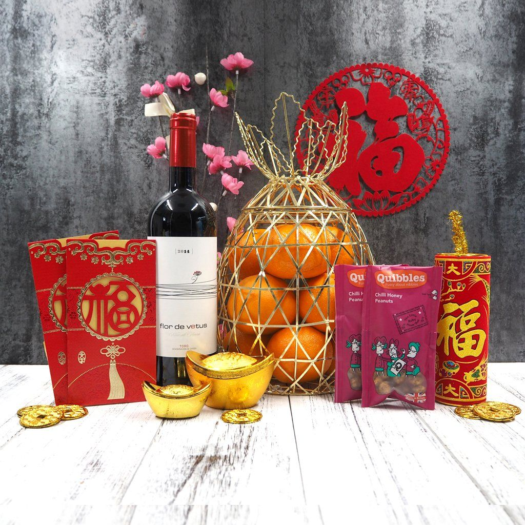 What Is Sweet Fresh And Must Have During Chinese New Year That S Right Mandarin Oranges This Hamper Is Filled Chinese New Year Gift Hampers Corporate Gifts