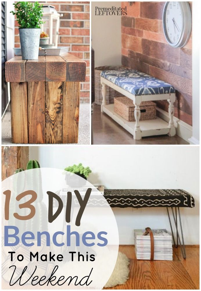 13 Easy DIY Benches