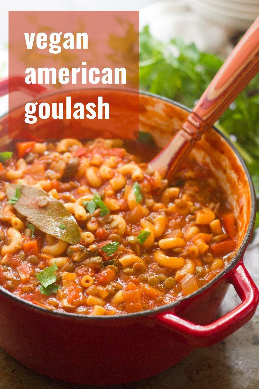 Vegan American Goulash images