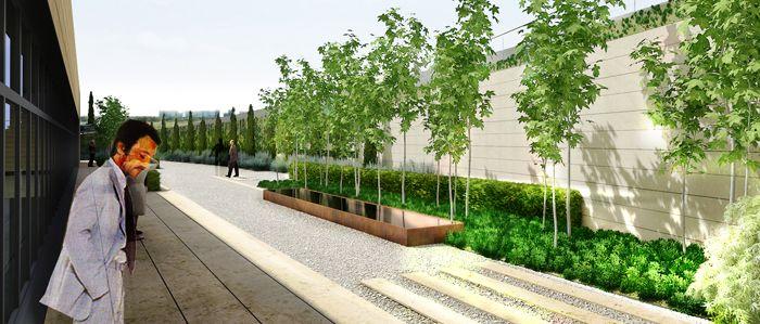 Proyecto de paisajismo para edificio de oficinas en madrid - Paisajismo madrid ...