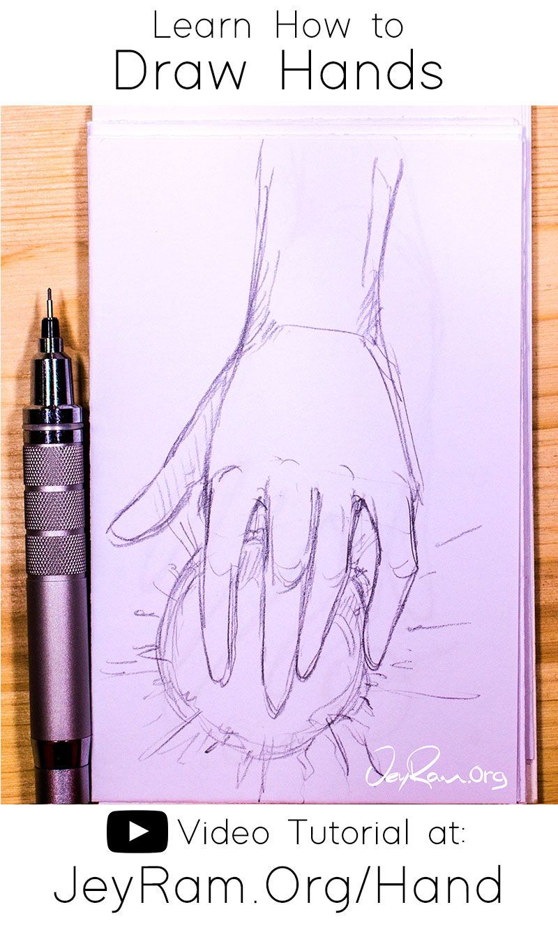 How To Draw Hands Video Tutorial Free Worksheet In 2020 Drawing Tutorial Hands Hand Art Drawing How To Draw Hands
