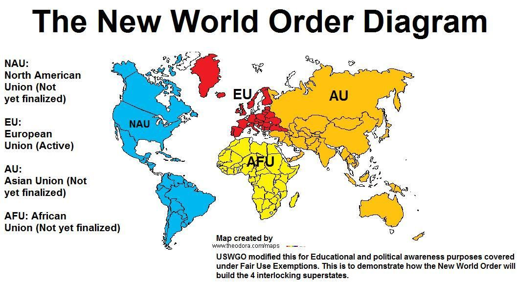 TheNewWorldOrderDiagram Unhealthy Pinterest Politics and - new world map political