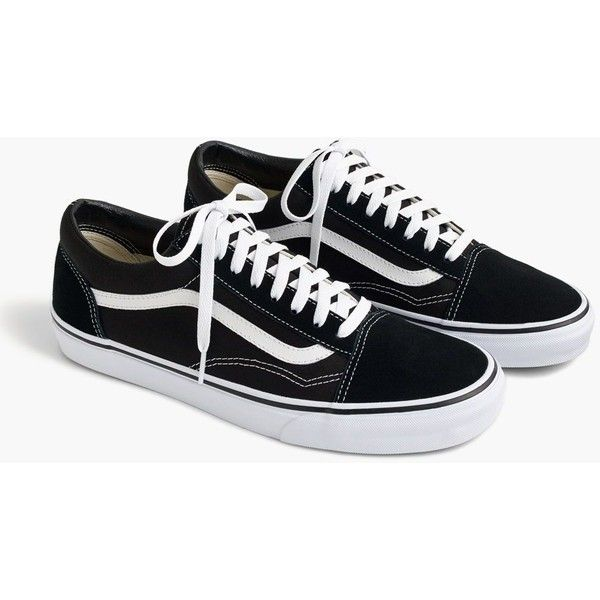 J Crew Vans Old Skool Sneakers In Black 1 060 Mxn Liked On Polyvore Featuring Shoes Sneakers With Images Vans Old Skool Vans Old Skool Sneaker J Crew Shoes