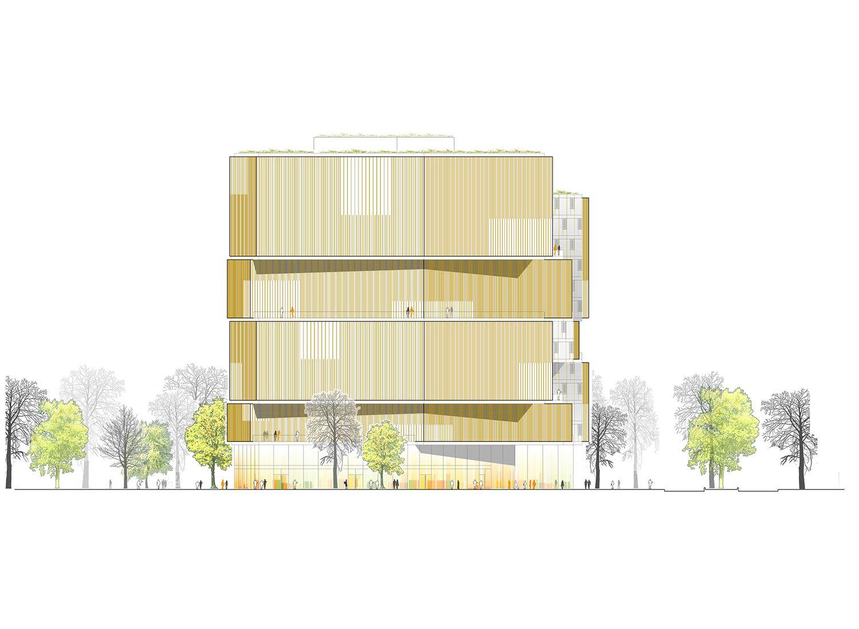 Architektur Ansicht prize baufeld 4 ansicht behnisch architekten