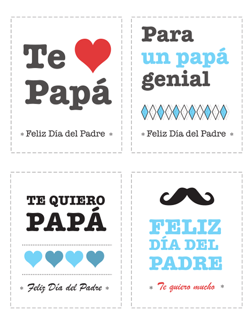Tarjetas para felicitar el Día del Padre | Manualidades Día del ...