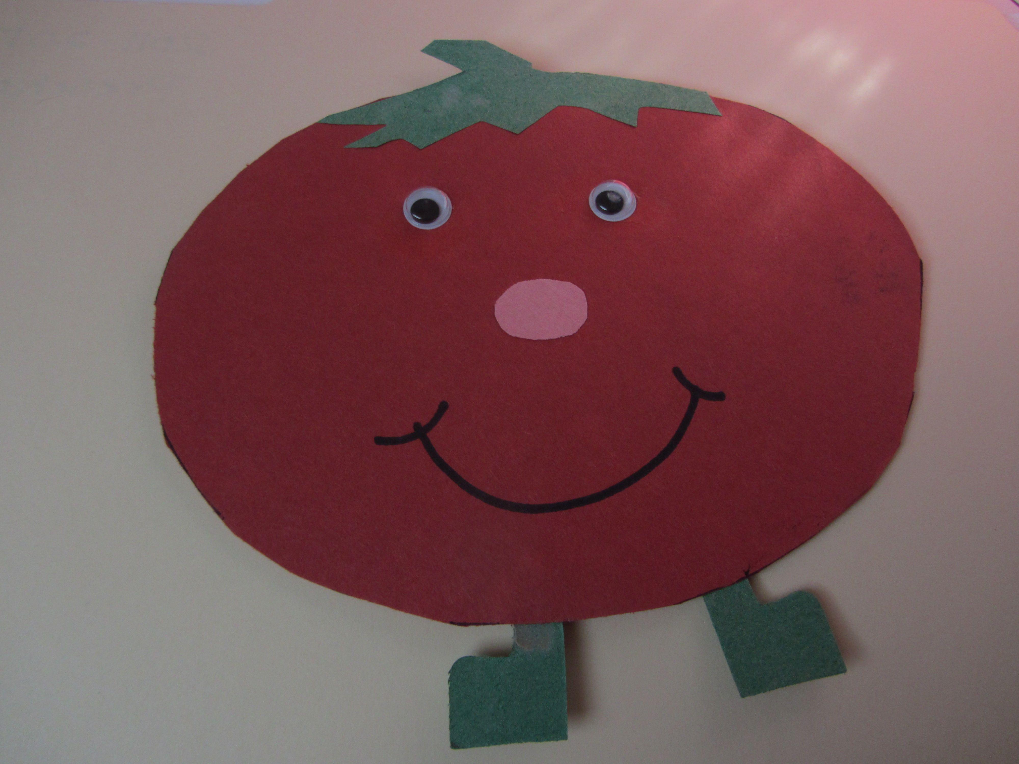 Tomato Paper Craft Vegetable Week Letter Tt Week