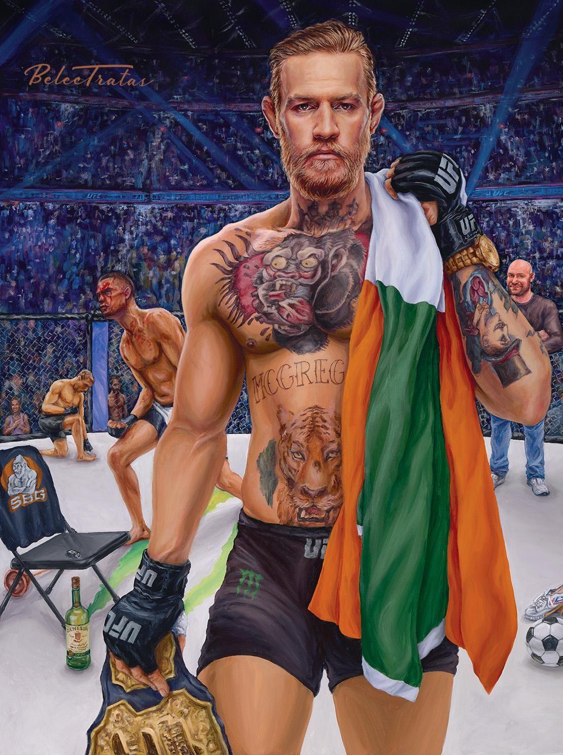 Loudmouth Irish Badboy Acrylic On Canvas 30 X 40 Conor Mcgregor Mcgregor Wallpapers Mcgregor