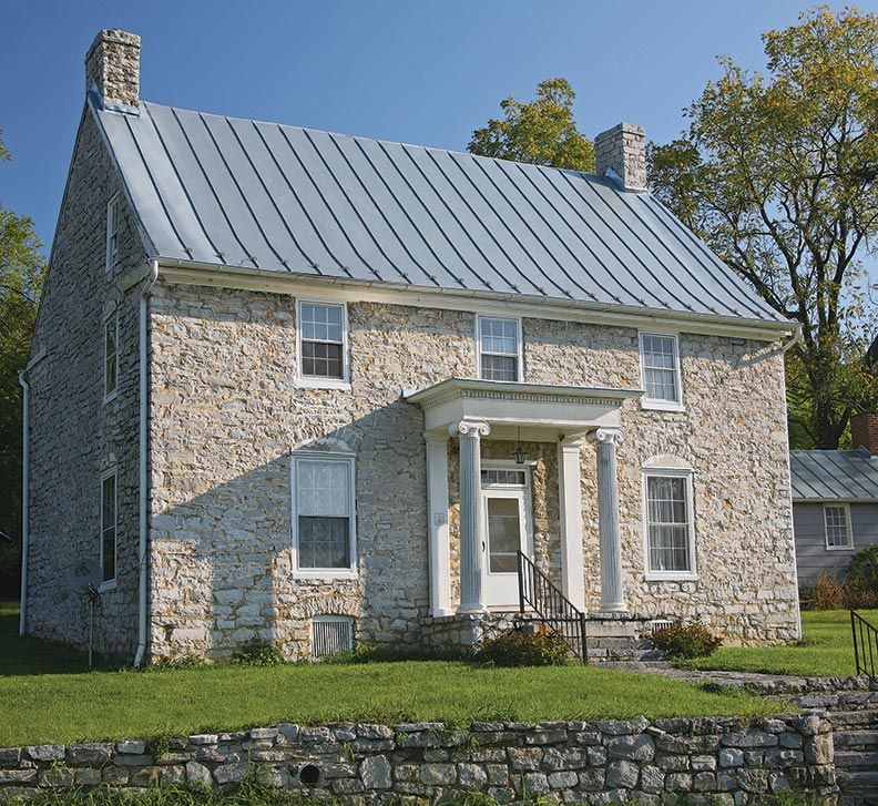 The Best Roofing Materials For Old Houses Limestone House Metal Roof Houses Standing Seam Metal Roof