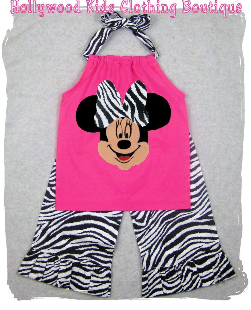 Custom Made Outfits For Girls | Custom Boutique Girl Clothes Zebra Minnie Mouse Pillowcase Top Ruffle ...
