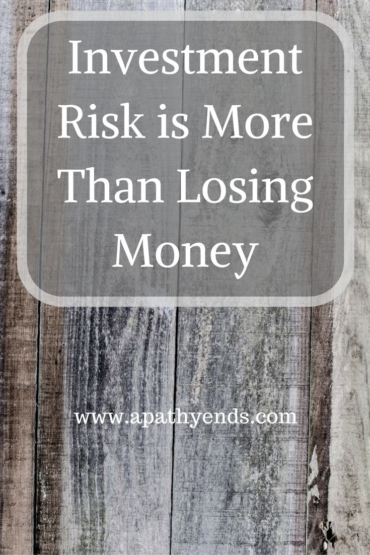 Investment risk is more than losing money investing