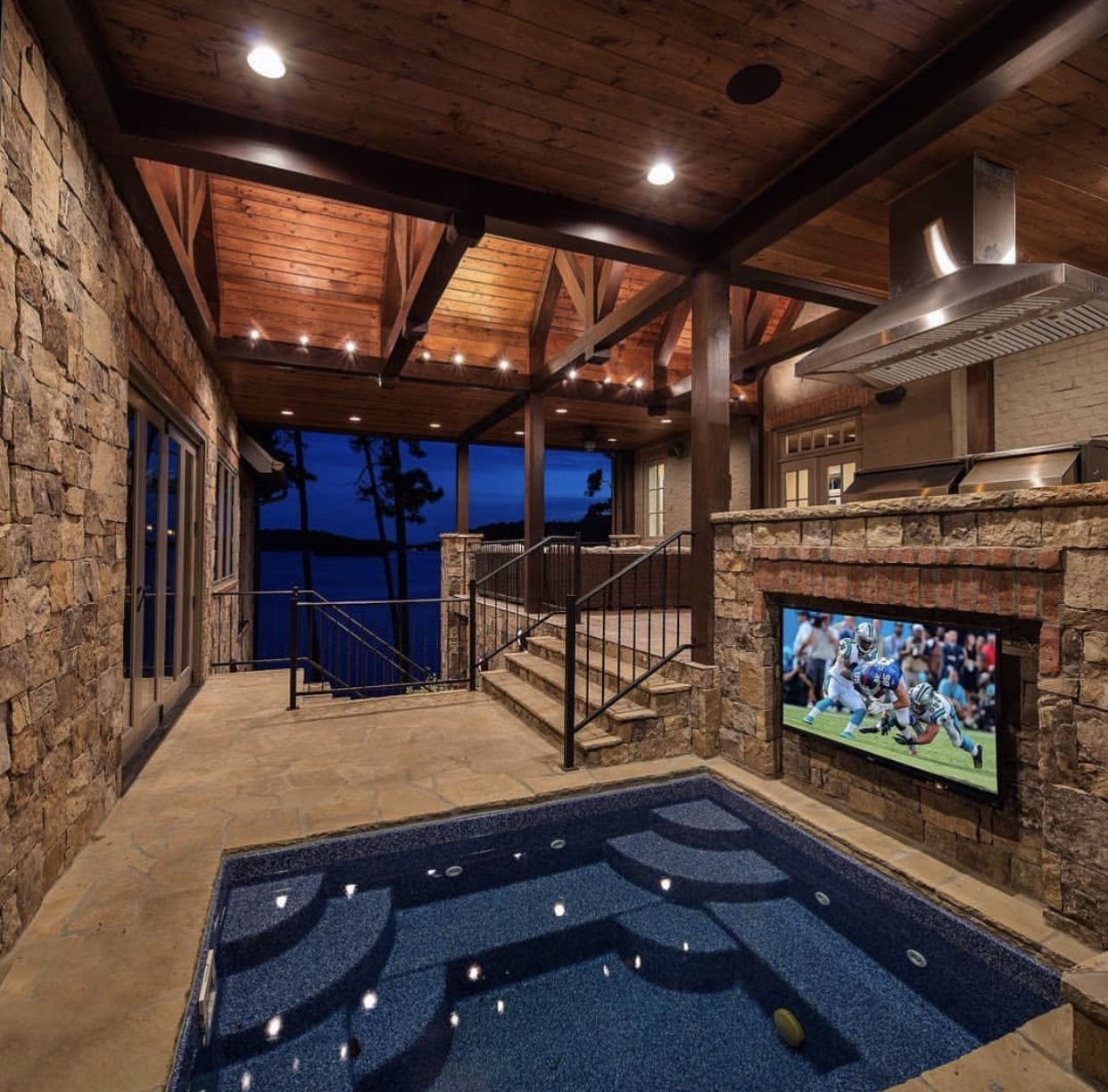 Great Outdoor Hot Tub Tv Set Up Hillcrestluxuryhomes Hot Tub Outdoor Hot Tub House Indoor Hot Tub