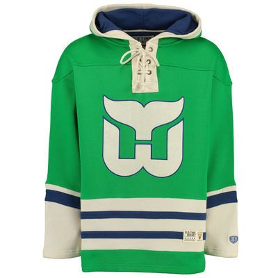 Men s Hartford Whalers Old Time Hockey Green Lacer Heavyweight ... ed94234c2