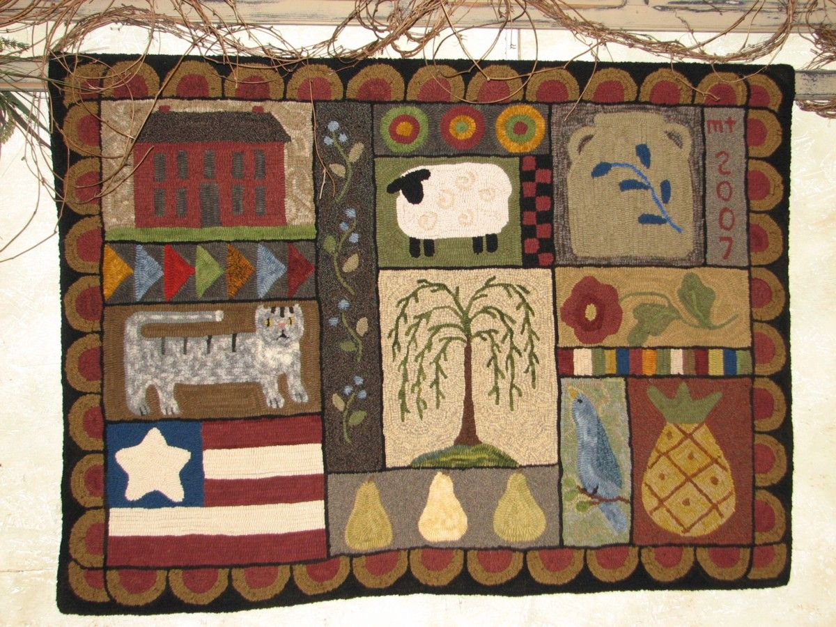 17 Best images about Primitive Rug Hooking on Pinterest | Hand hooked rugs,  Wool and Patterns