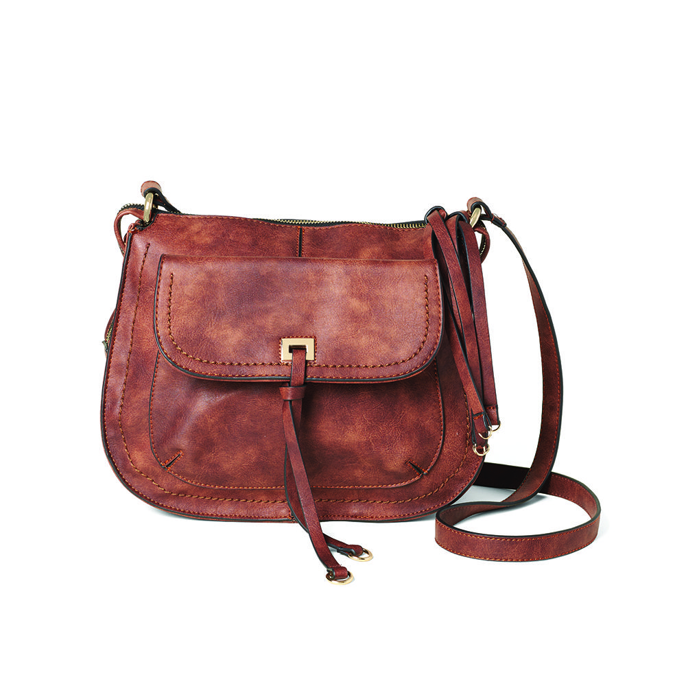 Saint Sabrina Concealed Carry Handbags.  The Brazen Saddle Bag in Brown.