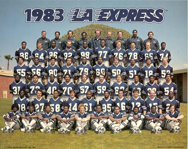 1983 Los Angeles Express Roster Usfl United States Football League American Football League Football League Football Pictures