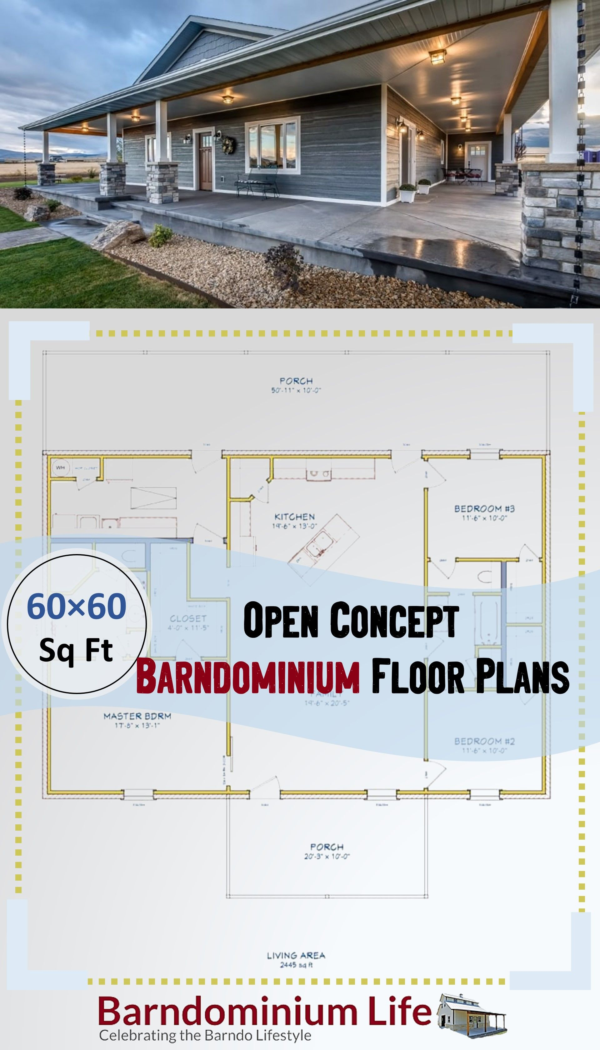 Open Concept Barndominium Floor Plans Metal House Plans Barn House Plans House Plans Farmhouse