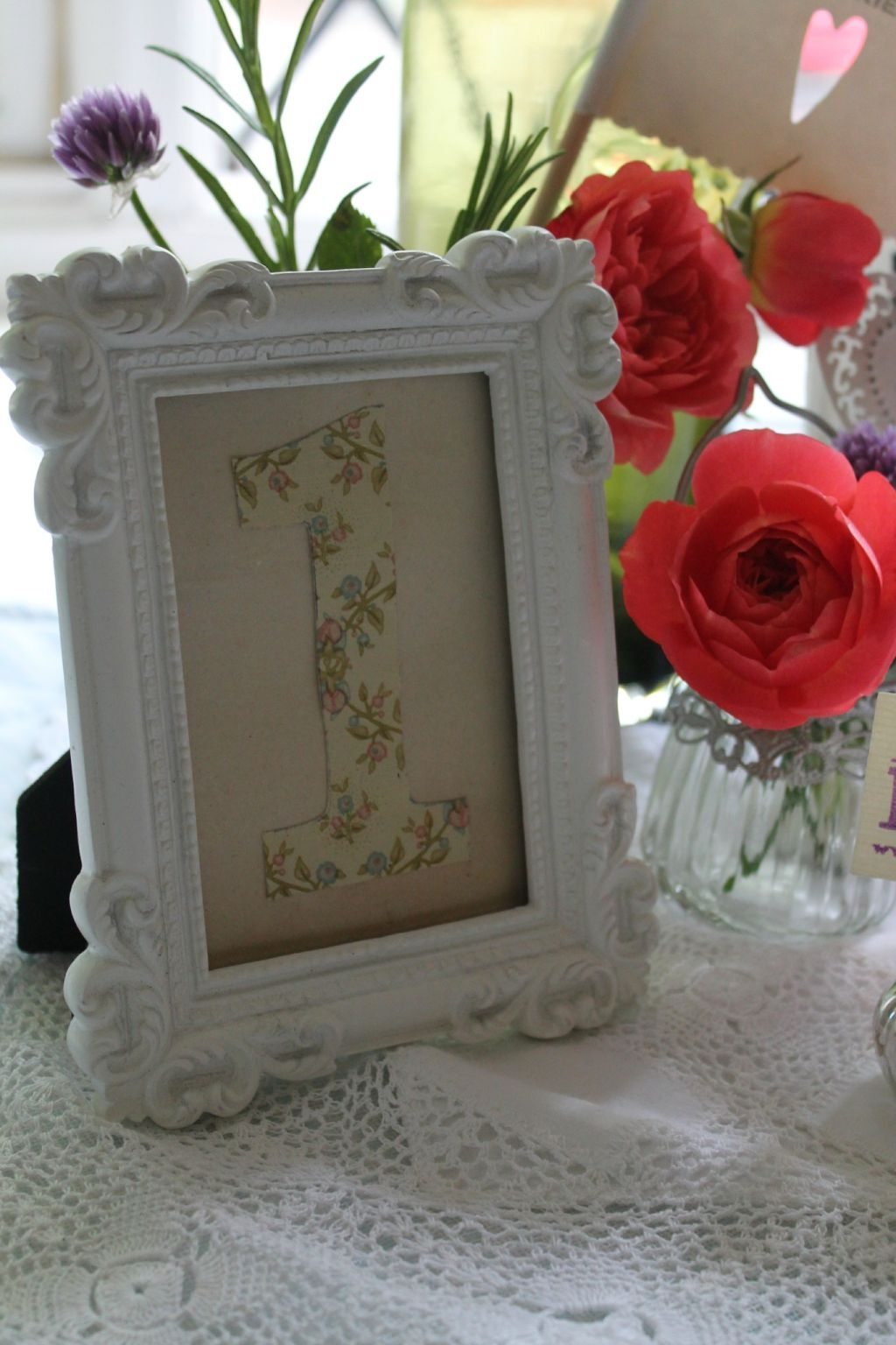 Picture Frames For Wedding Table Numbers Gallery - Craft ...