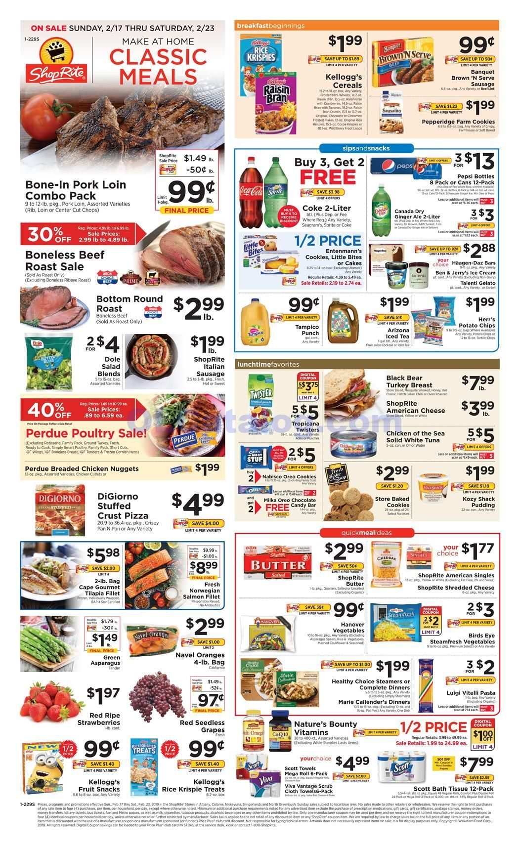 Shoprite Weekly Ad Can Can Sale February 17 23 2019 View The Latest Shoprite Flyer Here Discover The Digital Frozen Appetizers Shoprite Bone In Pork Loin