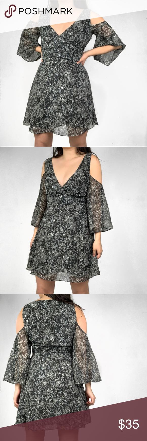 b6f82fdd27 Zara Black Snake Print Cold Shoulder Mini Dress Zara Snake Print Cold  Shoulder Midi Dress.