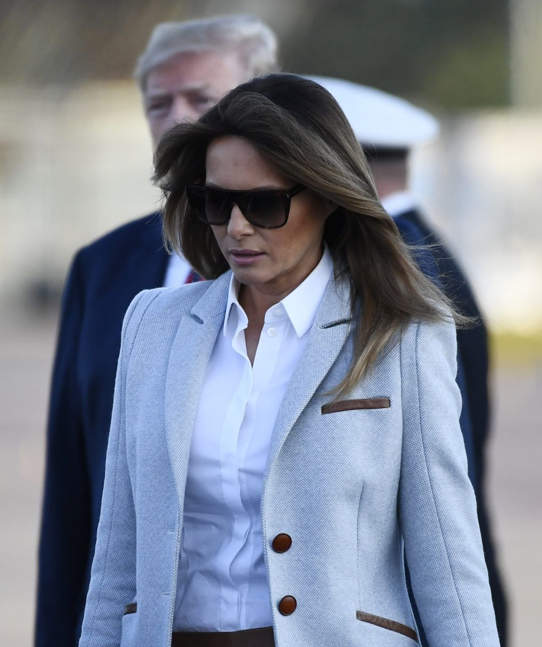 49f238013303 Fashion Notes: Melania Trump Stuns in Finland Wearing Ice Blue Coat by Emerging  American Designer