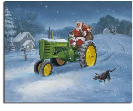 Charles Frietag Quot John Deere Santa Quot 169 Old Farm Tractors