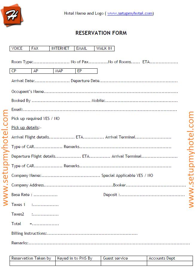 Reservation Form Sample Hotels Resorts Accomodation Reservation Letter Sample Educational Websites Sample Resume