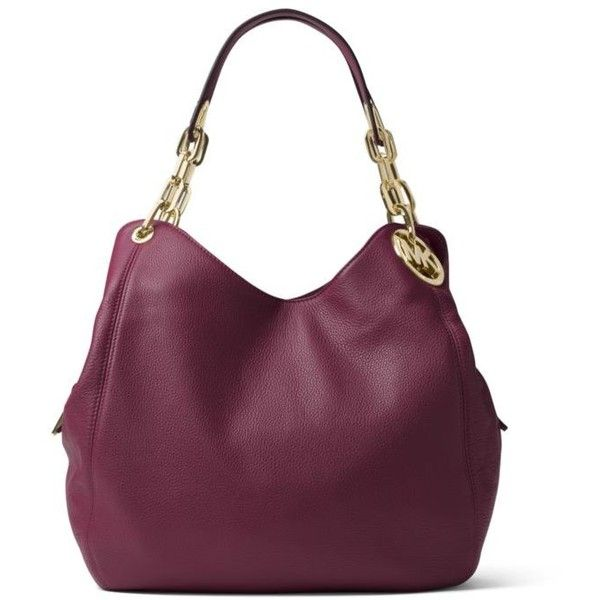 e869bbd298 Michael Michael Kors Plum Fulton Large Shoulder Tote ( 398) ❤ liked on  Polyvore featuring