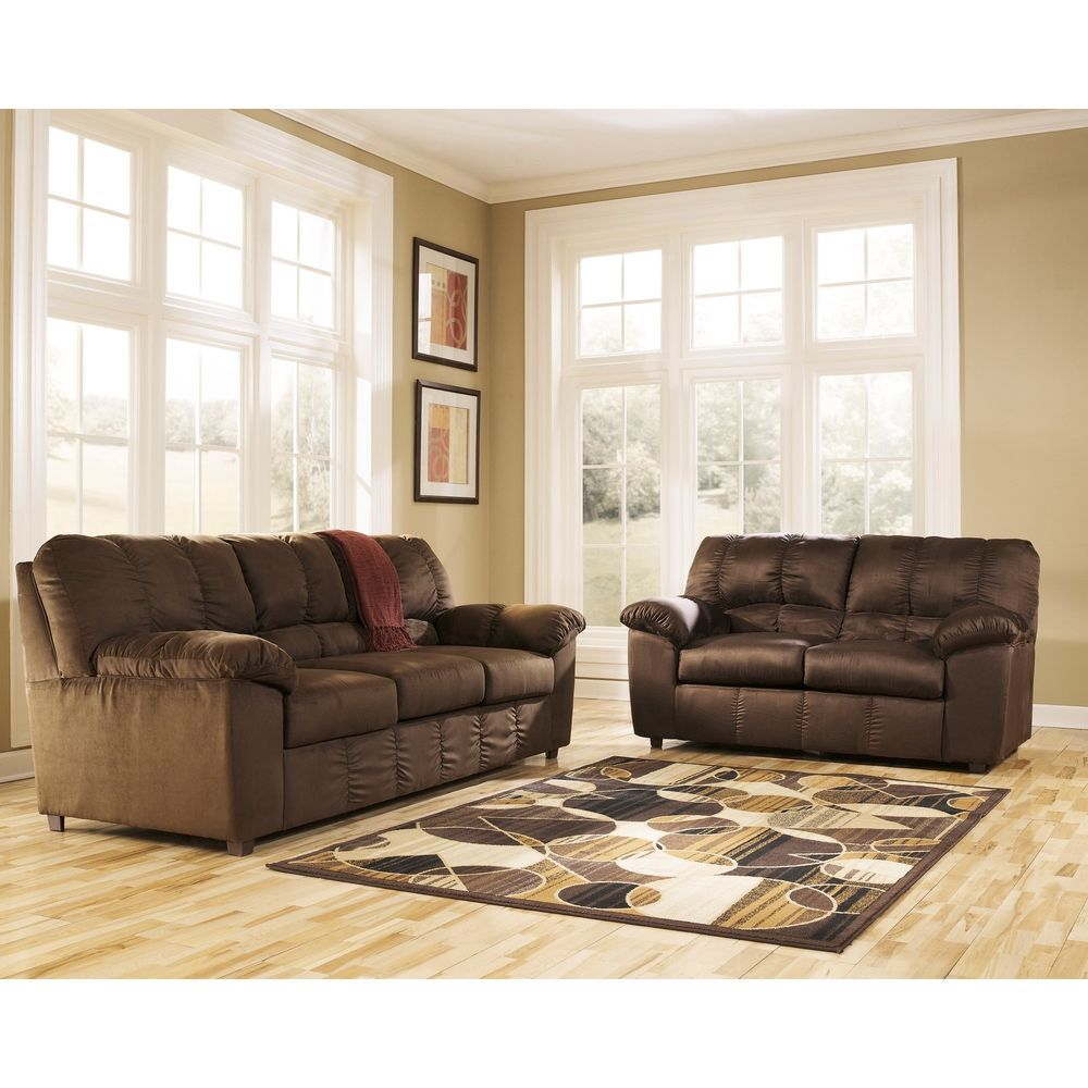 Fabric Sofa Living Room Set Of 2 Contemporary Polyester Fabric