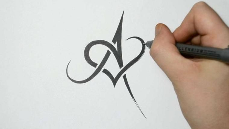 Letters for tattoos designed
