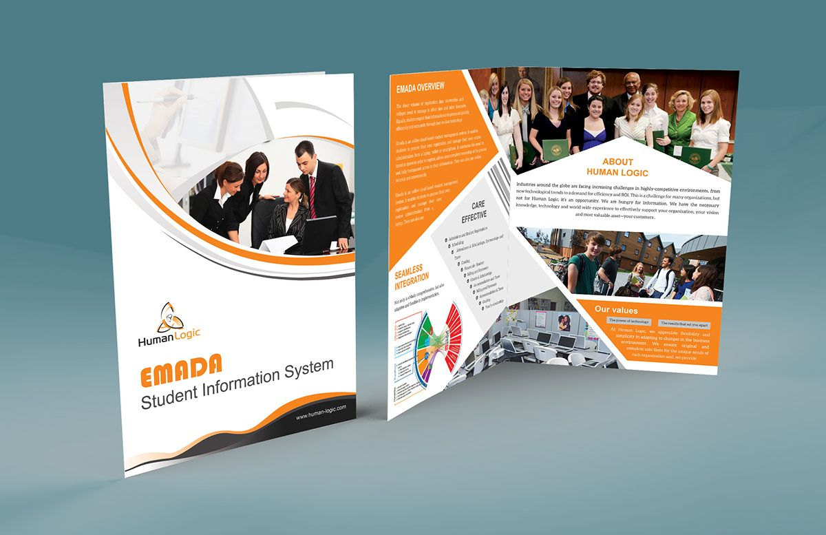 Free BiFold Brochure Psd On Behance throughout Two Fold