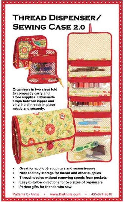Thread Dispenser Sewing Case Pattern   Patterns, Sewing case and ...