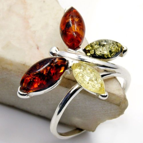 SRING-BUTTERFLY-NATURAL-BALTIC-AMBER-925-SILVER-RING-SIZE-5-3-4-X325-GIFT