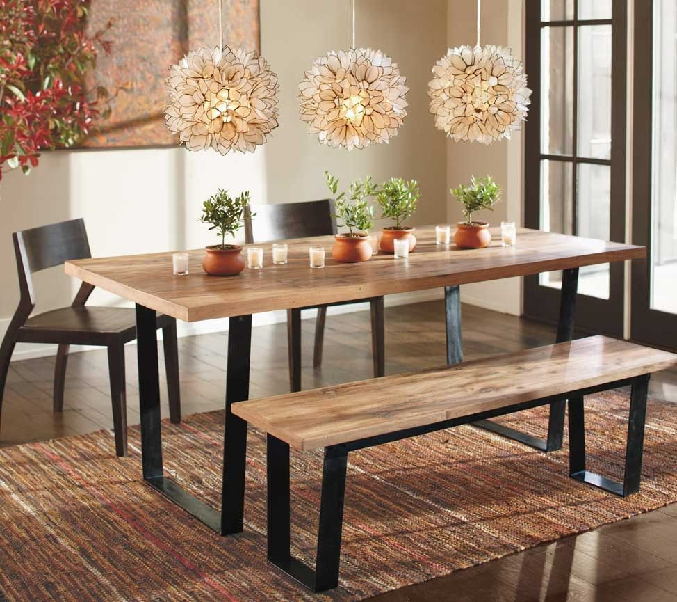 Railroad Tie Dining Table And Bench  Vivaterra  Home Decor Ideas Endearing Rustic Wood Dining Room Tables 2018