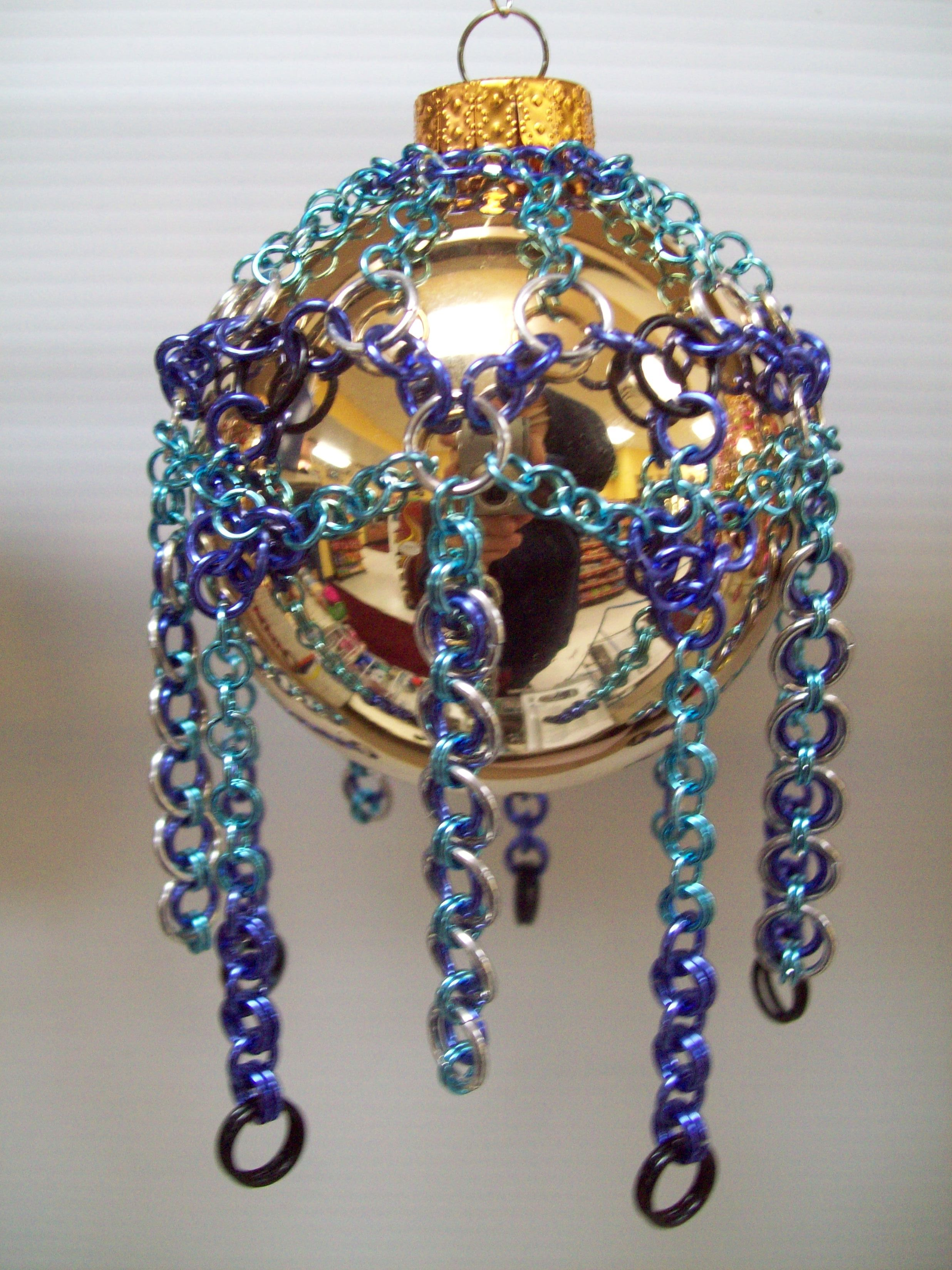 Chainmaille Christmas Ornament Cover Ornament cover in ...
