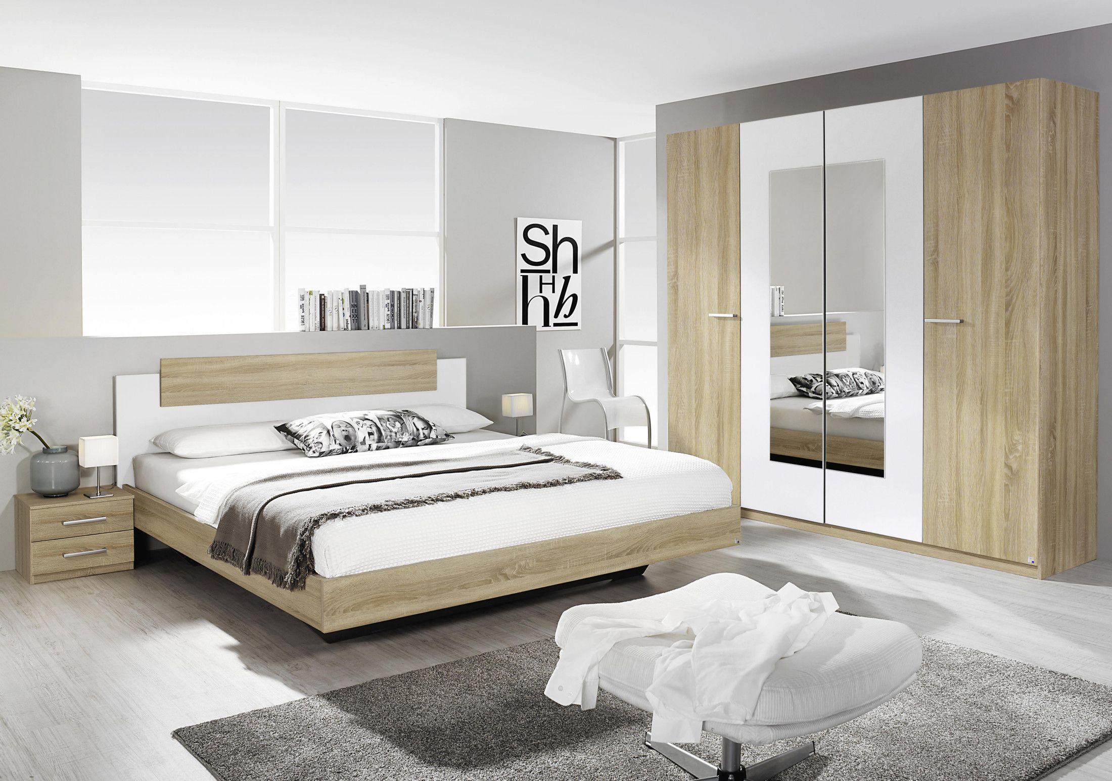 Schlafzimmerset Mit Bett 180 X 200 Cm Eiche Sonoma Woody