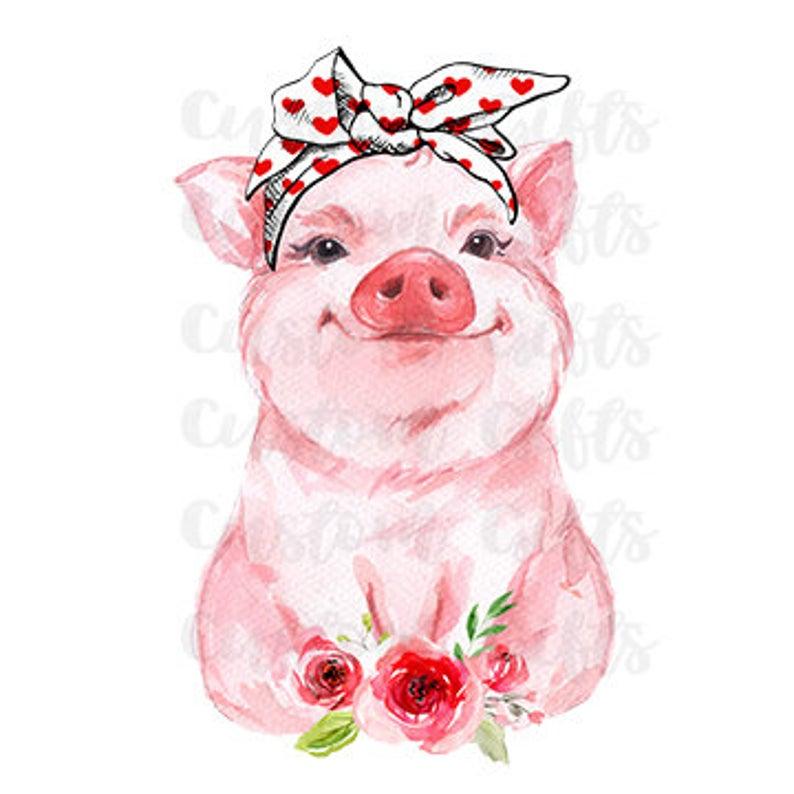 Pin By Welded Viking On Boze Narodzenie In 2020 Cute Pigs Polka Dot Headband Red Bandana